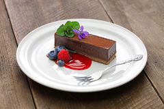 шоколад торта домодельный Стоковая Фотография RF