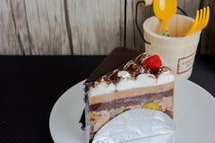 шоколад торта домодельный стоковое фото