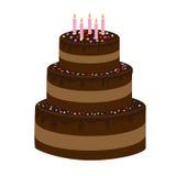 шоколад 3 торта расположенный ярусами Стоковые Фото