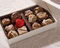 Шоколады в коробке Стоковое Изображение RF