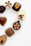 Шоколады в форме половинного сердца Стоковые Изображения RF