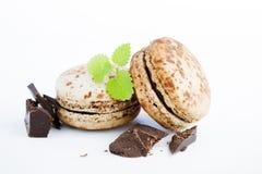 Шоколад  macaroons Стоковые Фотографии RF