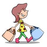Ходить по магазинам иллюстрация вектора