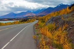 Шоссе Аляски, территории Юкона, Канада стоковая фотография rf
