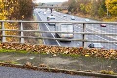 Шоссе Великобритании в осени Стоковое фото RF