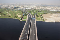 Шоссе в Дубай стоковые фотографии rf