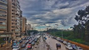 Шоссе города стоковое фото
