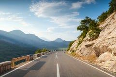 Шоссе горы с линией раздела Стоковая Фотография RF
