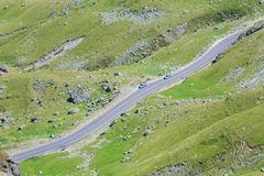 Шоссе горы Transalpina Стоковая Фотография RF