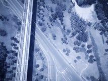Шоссе и железные дороги стоковые фото