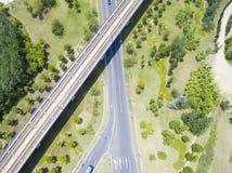 Шоссе и железные дороги стоковое фото