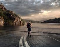 Шоссе к озеру Стоковое фото RF