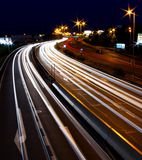 Шоссе ночи Праги стоковая фотография