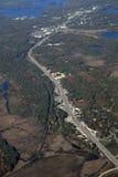 Шоссе Онтарио Gravenhurst, воздушное Стоковое Изображение
