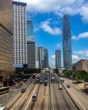 Шоссе острова Гонконга стоковые изображения