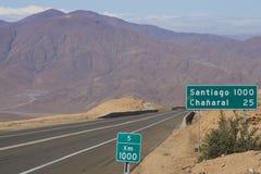Шоссе лотка американское, Чили стоковая фотография