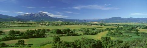 Шоссе сказаний, долина Cuchara, Колорадо Стоковые Фото