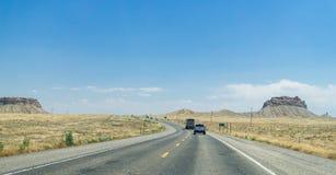 Шоссе 89 США Путешествовать к tre на запад стоковое изображение rf
