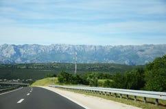 Шоссе через горы Стоковые Изображения RF