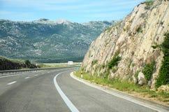 Шоссе через горы Стоковое Изображение