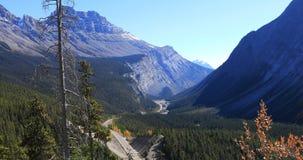 Шоссе через скалистые горы, Канада 4K Icefields акции видеоматериалы