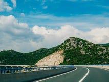 Шоссе Шоссе в Хорватии Стоковые Фотографии RF