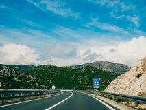 Шоссе Шоссе в Хорватии Стоковое Фото