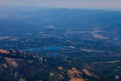 Шоссе щук пиковое в Колорадо-Спрингс, Колорадо Стоковая Фотография RF