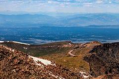 Шоссе щук пиковое в Колорадо-Спрингс, Колорадо Стоковое Изображение RF
