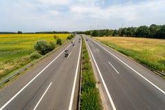 Шоссе Bundesautobahn 13 федеральное стоковые изображения rf