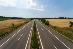 Шоссе Bundesautobahn 13 федеральное стоковое изображение rf