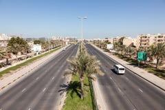 Шоссе Ghous Al в Muharraq, Бахрейне стоковое изображение rf