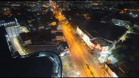 Шоссе Mittraphap в городе Nakhon Ratchasima сток-видео