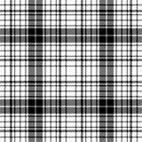 Шотландка картины современной черноты пиксела белая безшовная иллюстрация штока