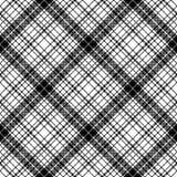 Шотландка картины современной черноты пиксела белая безшовная бесплатная иллюстрация