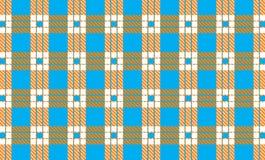 Шотландка тартана, небесно-голубого, белых и оранжевых картины также вектор иллюстрации притяжки corel иллюстрация вектора