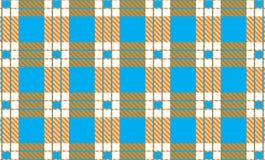 Шотландка тартана, небесно-голубого, белых и оранжевых картины также вектор иллюстрации притяжки corel бесплатная иллюстрация