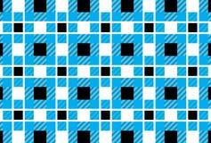 Шотландка тартана, небесно-голубого, белых и черных картины Вектор Illustratio иллюстрация штока