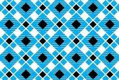 Шотландка тартана, небесно-голубого, белых и черных картины Вектор Illustratio иллюстрация вектора