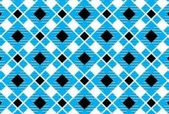 Шотландка тартана, небесно-голубого, белых и черных картины Вектор Illustratio бесплатная иллюстрация