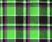 Шотландка текстуры ткани как предпосылка Стоковая Фотография RF