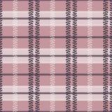 Шотландка фольклора вектора с барвинком в пылевоздушной розовой безшовной предпосылке картины иллюстрация вектора