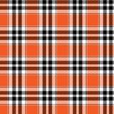 Шотландка хеллоуина оранжевая черная иллюстрация вектора