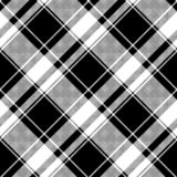 Шотландка черной белой картины пиксела проверки безшовная иллюстрация штока