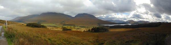 Шотландская панорама ландшафта стоковые фото