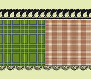Шотландская ткань, чувствительная вышивка Стоковое Изображение RF
