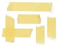 Шотландские прокладки на белизне Стоковое фото RF