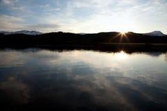 шотландский заход солнца Стоковая Фотография RF