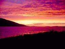 шотландский заход солнца стоковое изображение rf