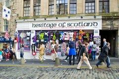Шотландский магазин сувенира Стоковая Фотография
